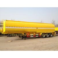 Wholesale 45 M3 Three Axles Oil Tank Small Semi Trailer Truck Yellow And White Color from china suppliers