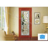 Quality Building Clear Beveled Glass Window Panels  / Door Acid Etched Sound Insulation for sale