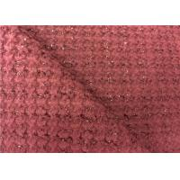 Wholesale Good Looking Dark Red Wool Blend Fabric With Soft Handfeeling from china suppliers