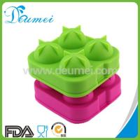 Wholesale Best Selling 4 Cavity Round Silicone Ball Shaped Ice Cube Tray/Silicone Ice Ball Maker from china suppliers