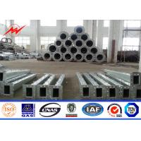 Wholesale 36M High Tension 8mm Thickness Steel Tubular Power Pole For Electricity distribution from china suppliers
