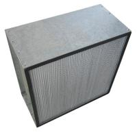 Wholesale Galvanized Frame Box HEPA Air Filters , Clean Room Air Filter Media from china suppliers
