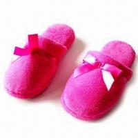 Wholesale Women's Slippers with Cotton Velour Upper and Insole, Available in Various Colors/Sizes from china suppliers