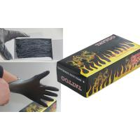 Buy cheap Anti - slip Tattoo Medical Supplies Flame Black Latex and Resin Glove from wholesalers