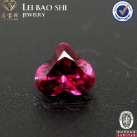 Quality 8mm Nice Cutting  Red Ruby Color Heart Shaped Faceted Synthetic Corundum Stone for sale