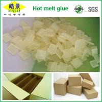 Buy cheap Carton Packaging Yellow Clear Hot Melt Adhesive Pellets EVA Long Open Time Odorless from wholesalers