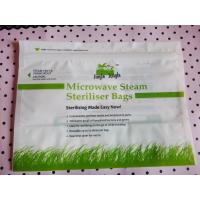Wholesale high temperature microwave steam steriliser bags/zipper plastic microwavable pouch from china suppliers