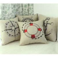 Wholesale nautical polyester burlap Linen Throw Pillows indoor With 20 Inch from china suppliers