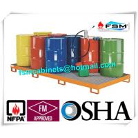 Wholesale Galvanized Steel Pallet Spill Containment Drum Platform For Multi Drums Storing from china suppliers