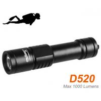 Wholesale ORCATORCH D520 aluminum palm-sized diving light max 1000 lumens  1000 lumens dive light 150m waterproof from china suppliers