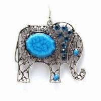 Wholesale Fashionable Rostone Drop Earrings, Available in Various Colors from china suppliers