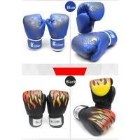 Buy cheap black red blue PU Kick Boxing Gloves Man Training grant taekwondo  gloves from wholesalers