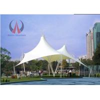 Quality Cable Membrane Patio Shade Structures , Steel Roof Contemporary Shade Structures For Square for sale