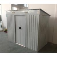 Wholesale 6x4 / 8x4 Flat Roof Garden Shed / Pent Metal Sheds With 2 158cm Doors from china suppliers