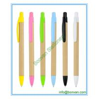 Wholesale eco paper promotional pen, craft paper advertising ball pen from china suppliers