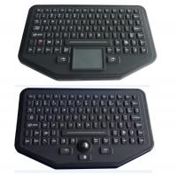 Wholesale Stand Alone Industrial Illuminated Keyboard With Trackball Black Color from china suppliers