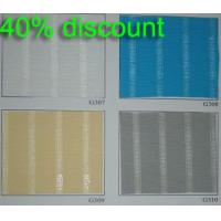 Wholesale Manual 100% polyester translucent fabric roller blinds for windows with aluminum toprail from china suppliers