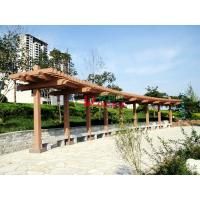 Wholesale Customized Outdoor Park Pergola Kits Environmental Friendly arch style with single line post from china suppliers