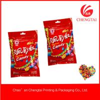 Wholesale Resealable 90 G Red Color Three Side Sealed Bag With Zipper Top For Fruit Candy from china suppliers
