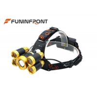 Wholesale 5000LMs Adjustable Focus Outdoor CREE LED Headlamp, 4 Gears Bicycle Zoom Lights from china suppliers