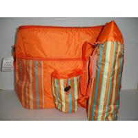 Wholesale Insulated 2 Piece Orange Striped Cooler & Thermos Bags NEW Great for Beach camping from china suppliers