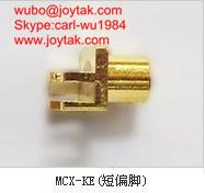 Wholesale High quality gold plated MCX jack streight PCB mount type coaxial connector MCX-KES from china suppliers