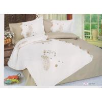 Buy cheap Full Size Complete Custom White Floral Designer Embroidered Bed Linen from wholesalers