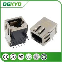 Wholesale Single port POE RJ45 Female Jack , Vertical rj45 pcb socket with EMI fingers from china suppliers
