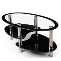 Wholesale 10MM black printing tempered glass as occasional  table top from china suppliers