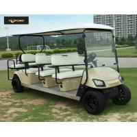 Wholesale Bronze Street Legal Electric 8 Passenger Golf Cart With Black Seats , Sharp Looking from china suppliers