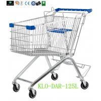 Wholesale 125L Toddler Metal Supermarket Cart With Beer Rack / 4 Swivel 4 Inch PU Wheel from china suppliers