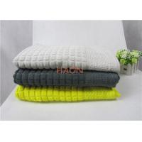 Wholesale Colorful Egypt Cotton Towel With Jacquard Grid & satin Edge Hotel Beach Towel from china suppliers