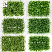 Wholesale UVG indoor and outdoor plastic boxwood mat artificial grass for walled garden decoration GRS12 from china suppliers
