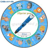 Wholesale 3D Caneta three d printing pen for Kids Drawing Tools Blue color from china suppliers