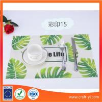 Buy cheap Restaurant Placemats table mate in Textilene fabric in printing from wholesalers