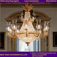 Wholesale New Iron Golden Crystal chandelier, Buying agent for lighting in Guzhen from china suppliers