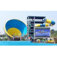 Wholesale Fiberglass Water Slides for adults , 14.6m Platform Height in Big water park from china suppliers