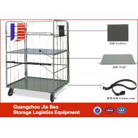Wholesale Mobile Warehouse Metal Logistics Trolley Foldable Stackable For Warehouse Cargo Handling Vehicle from china suppliers