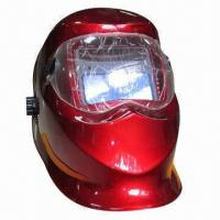 Wholesale Auto-darkening welding helmet, sensitivity adjustable, powered by battery and solar from china suppliers