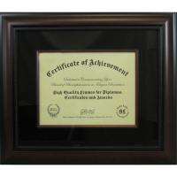 "Wholesale Single Opening 11""x 8 1/2"" Matted Document Picture Frames In Mahogany Made Of Solid Wood from china suppliers"