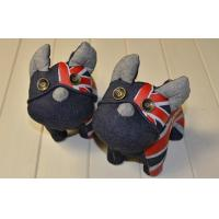 "Wholesale Customized Recycle-crafts Stuffed homemade denim toys 8"" dog for children from china suppliers"