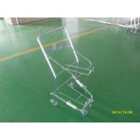 Wholesale Four Wheeled Shopping Trolley / Shopping Basket Trolley 50KGS capacity from china suppliers