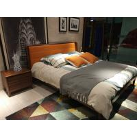 Wholesale 2017 New design of  Leather Upholstered headboard Bed by Walnut wood frame for Young Apartment  bedroom furniture use from china suppliers