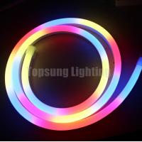 Wholesale 24V digital RGB LED neon Flex Rope Light dmx signal input led pixel strip from china suppliers