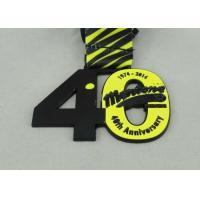 Wholesale Mentone Printing Ribbon Medals Custom Die Black Plating 80 mm soft enamel from china suppliers