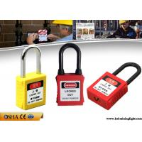Wholesale Nylon Shackle ABS Lock Body Safety Lockout Padlocks with Customized Language from china suppliers