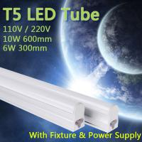 Wholesale 110V 220V 240V 55cm 30cm 6W/10W T5 Warm Cold White led fluorescent LED Tube from china suppliers