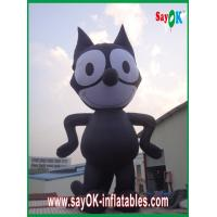 Wholesale Inflatable Black Cat / Strong Oxford Cloth Inflatable Animal Cartoon Height 8m from china suppliers