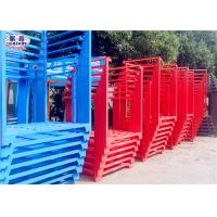 Wholesale Powder Coated Steel Stacking Racks , Warehouse Stackable Pallet Racks For Wheat from china suppliers