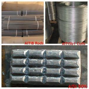Wholesale Aluminium Boron Titanium, Алюминиевые лигатуры AlTi5B1, металл легирующих элементов, металлический магний from china suppliers